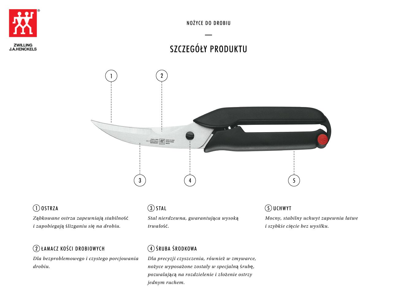 Dlaczego warto kupić nożyce do drobiu Zwilling®?