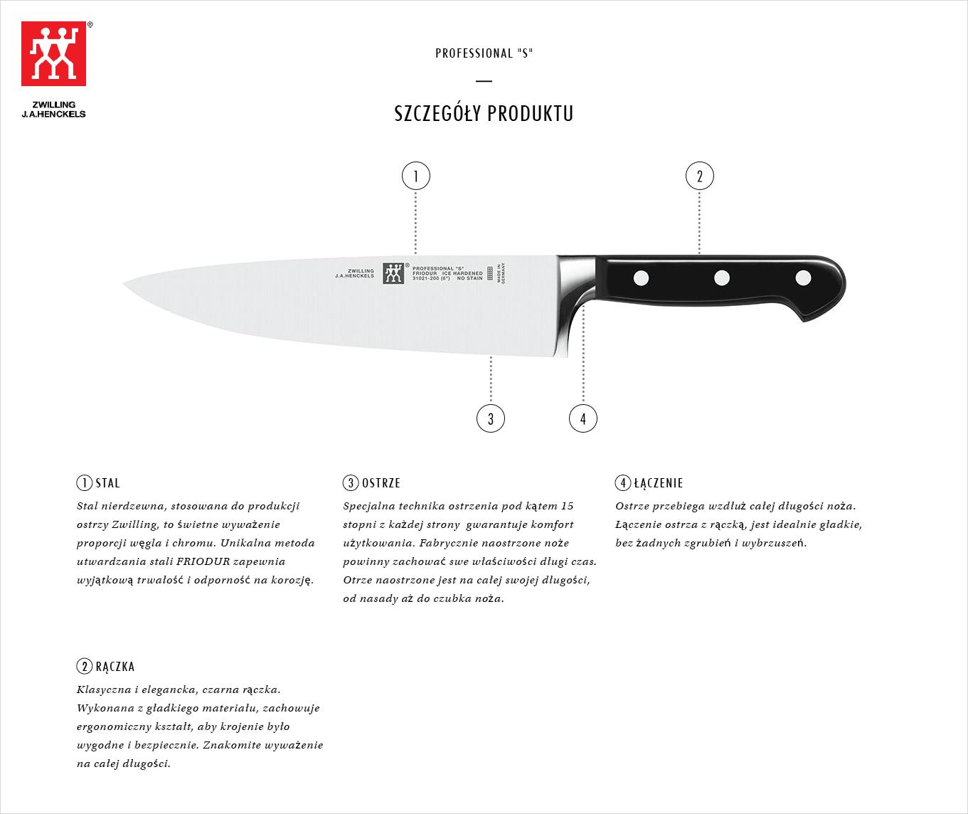 Dlaczego warto kupić zestaw 2 noży Zwilling® Professional S?