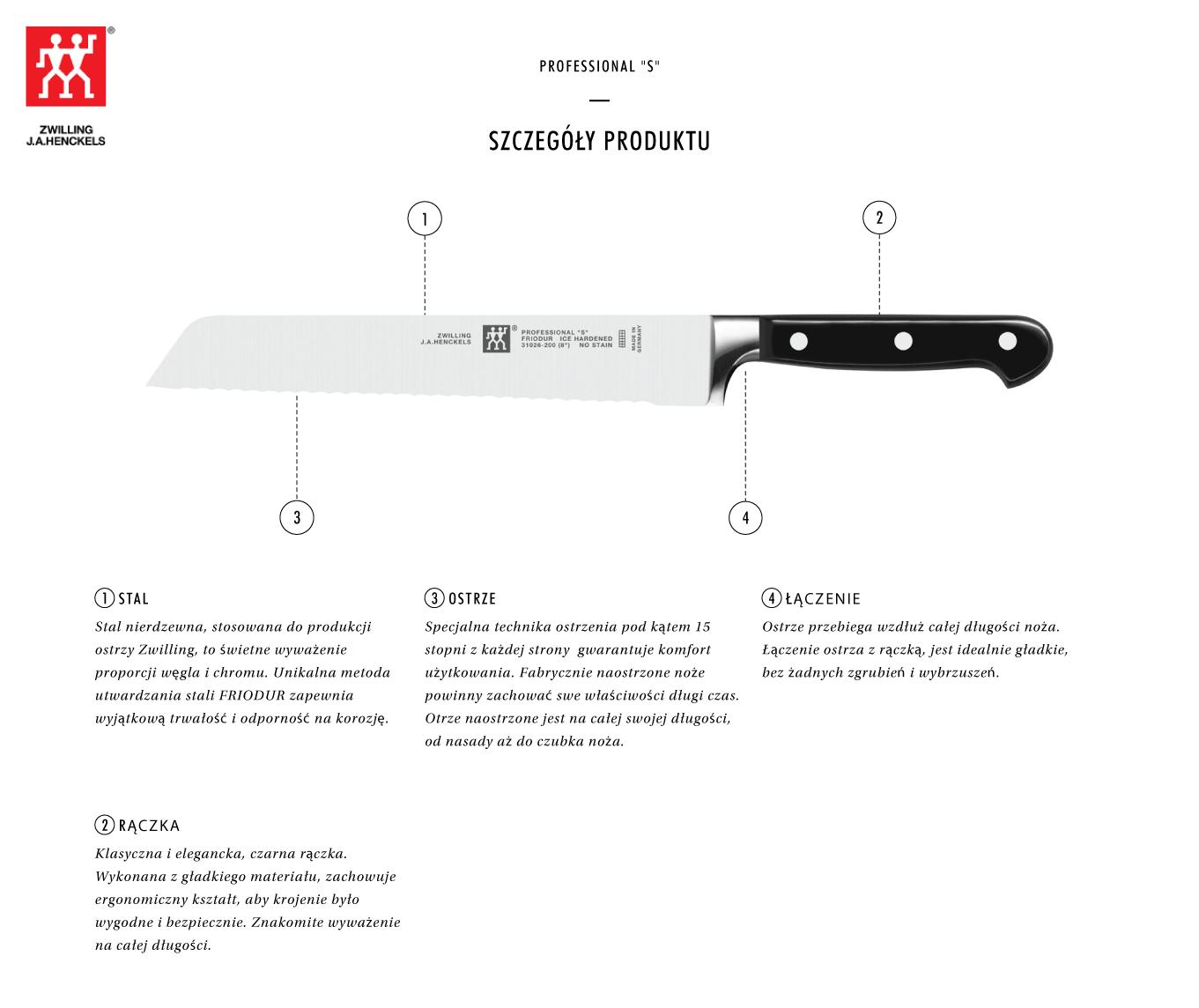 Dlaczego warto kupić nóż do pieczywa Zwilling® Professional S?