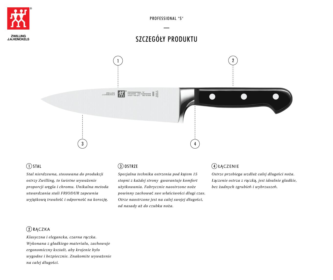Dlaczego warto kupić nóż kucharza Zwilling® Professional S?