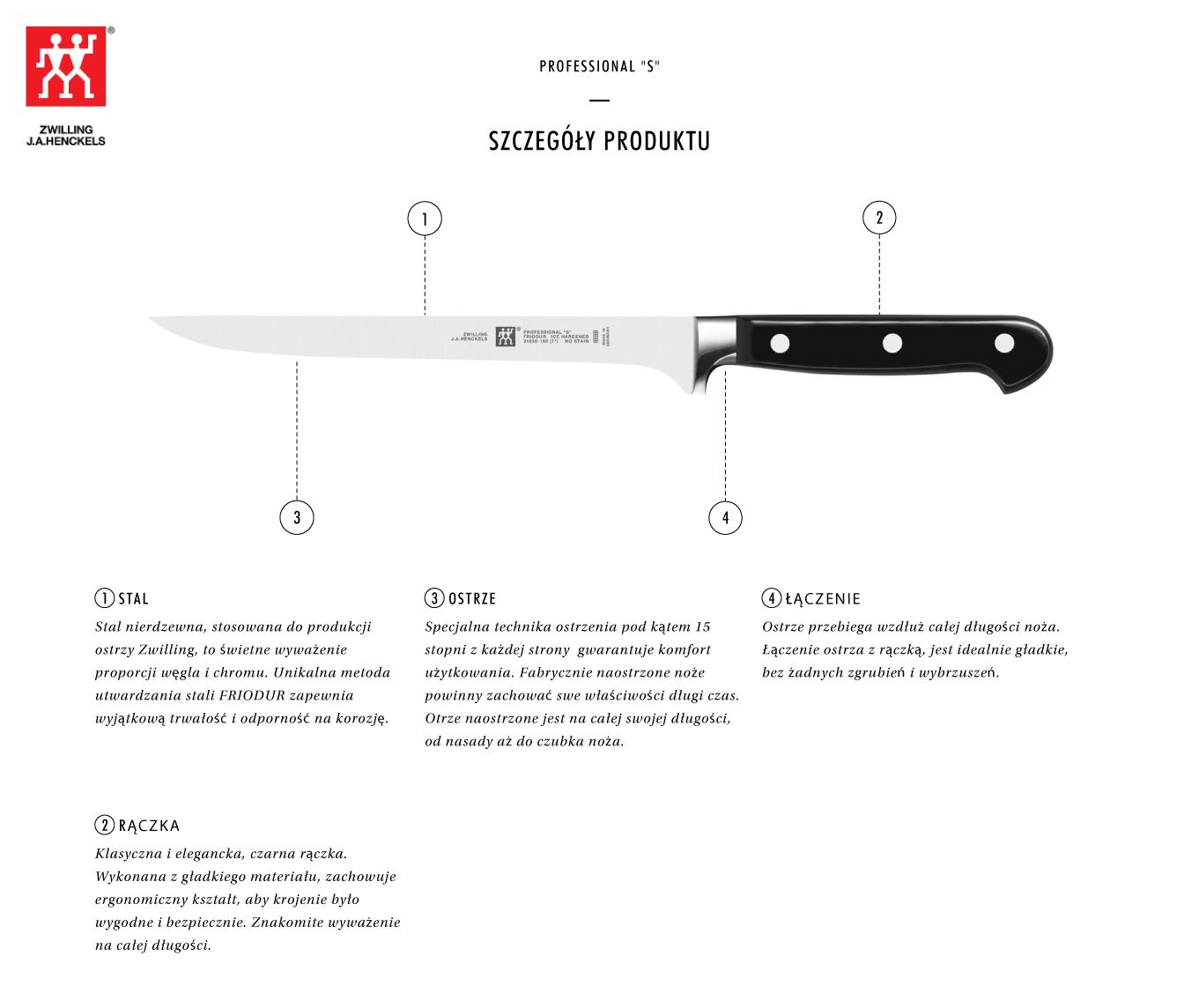 Dlaczego warto kupić nóż do filetowania Zwilling® Professional S?