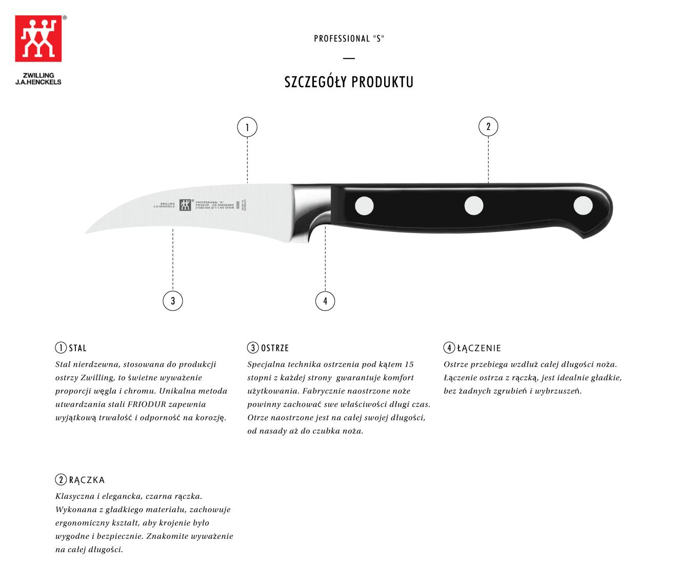 Dlaczego warto kupić nóż do obierania warzyw Zwilling® Professional S?
