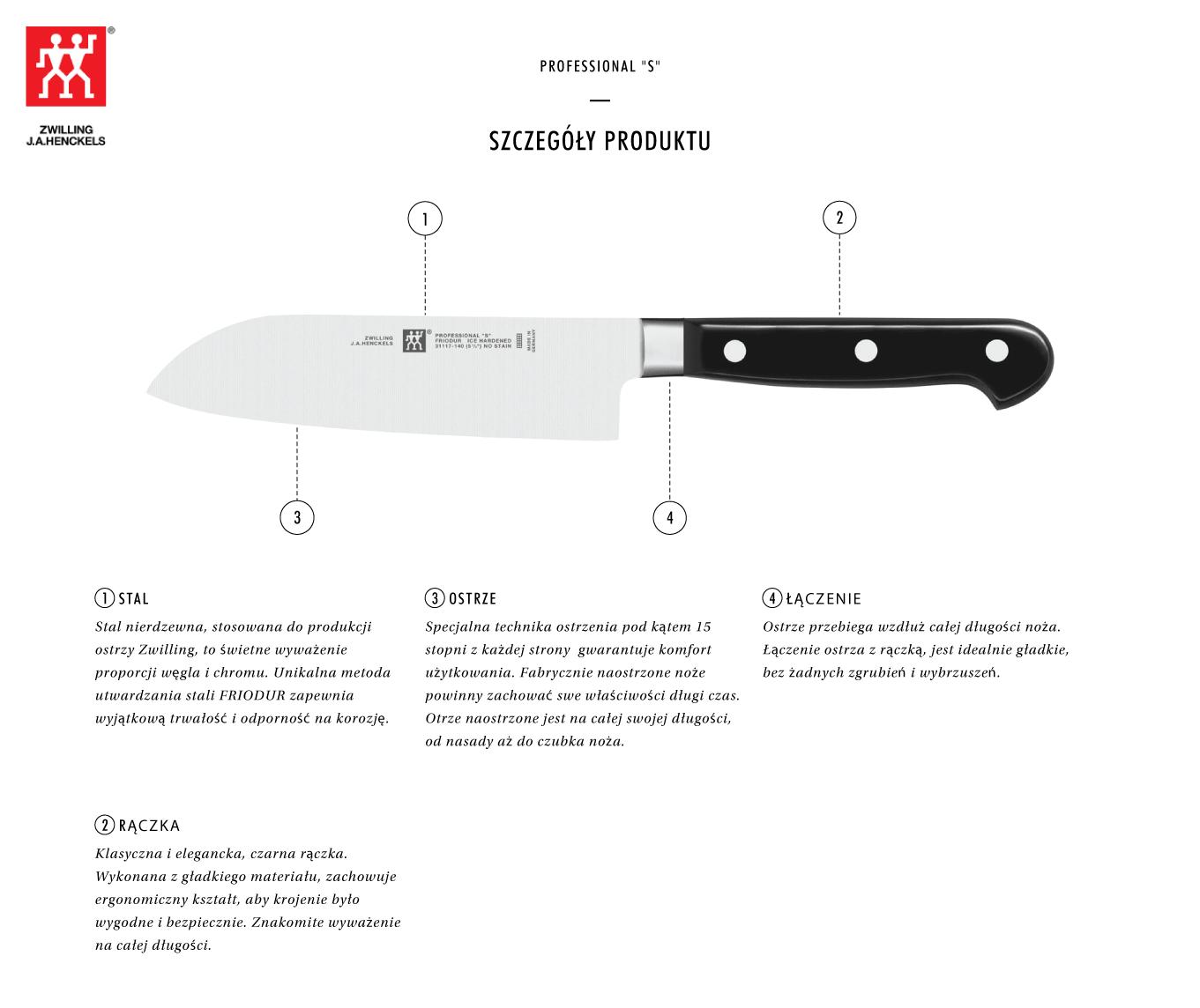 Dlaczego warto kupić nóż Santoku Zwilling® Professional S?