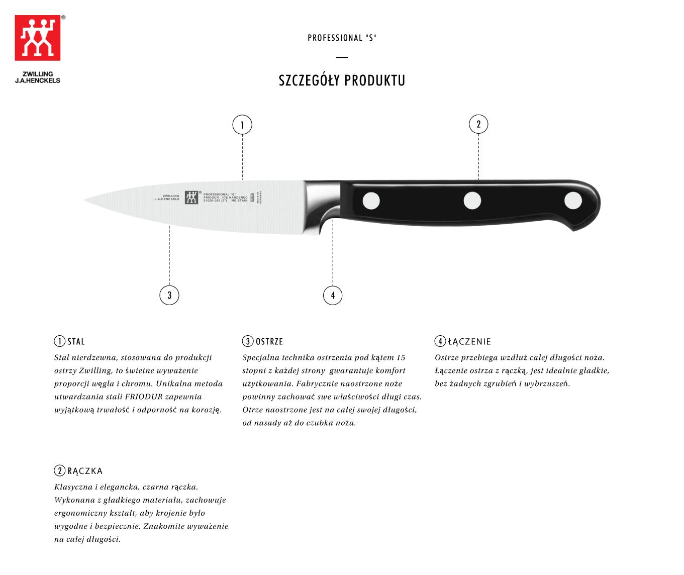 Dlaczego warto kupić nóż uniwersalny Zwilling® Professional S?