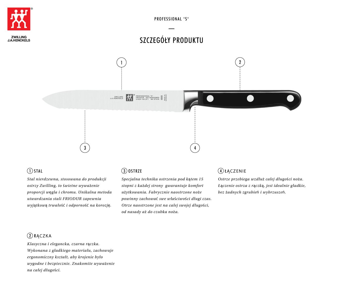 Dlaczego warto kupić nóż uniwersalny z ząbkami Zwilling® Professional S?