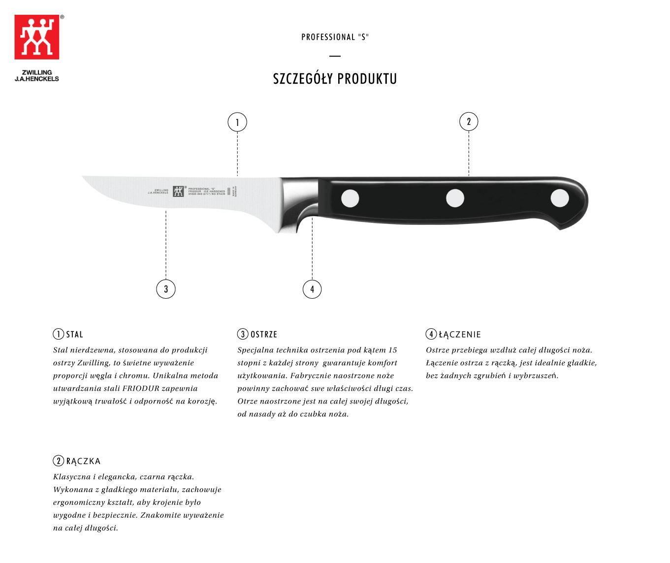 Dlaczego warto kupić nóż do warzyw i owoców Zwilling® Professional S?