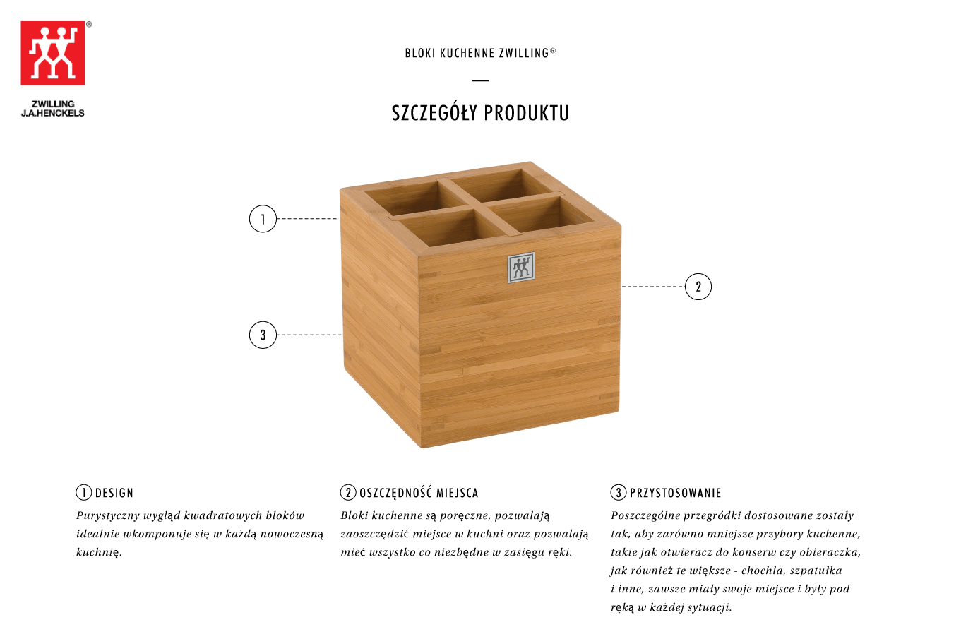 Dlaczego warto kupić bambusowy pojemnik na akcesoria Zwilling®?