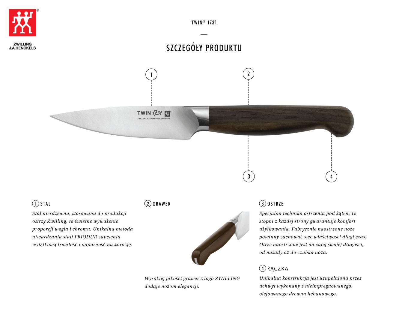 Dlaczego warto kupić nóż do obierania warzyw Twin® 1731?