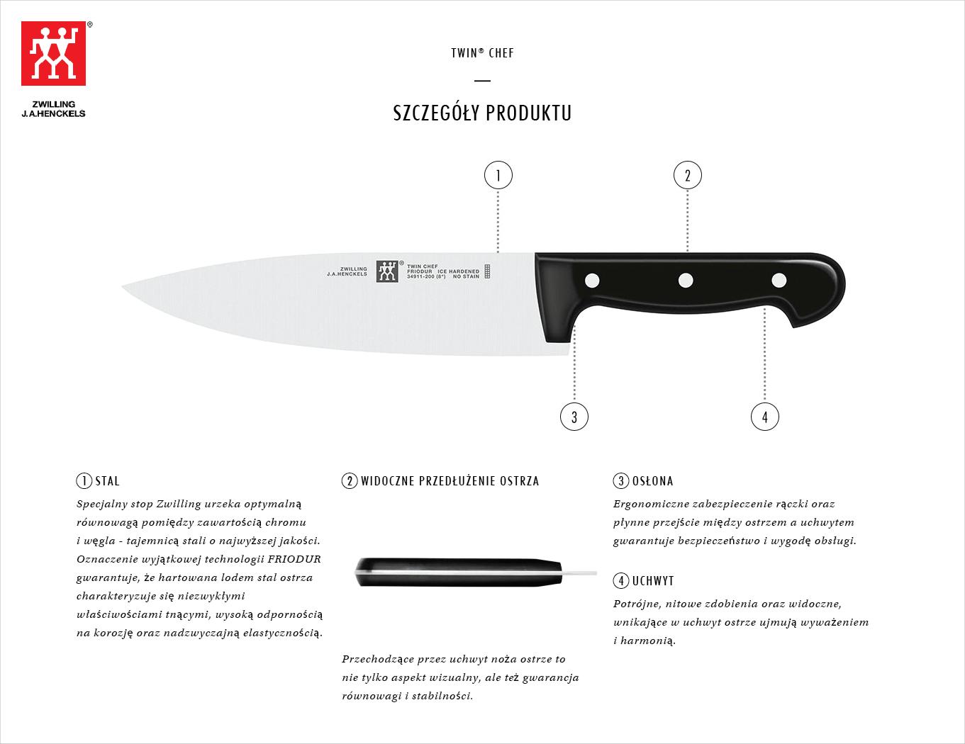 Dlaczego warto kupić zestaw 5 noży w drewnianym bloku Twin® Chef?