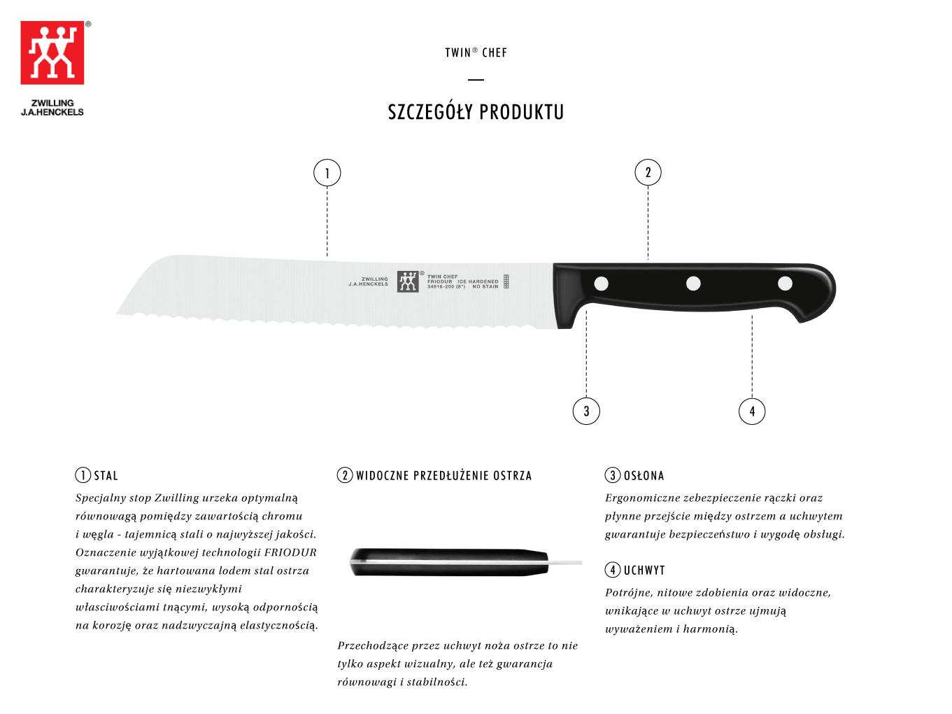 Dlaczego warto kupić nóż do pieczywa Twin® Chef?