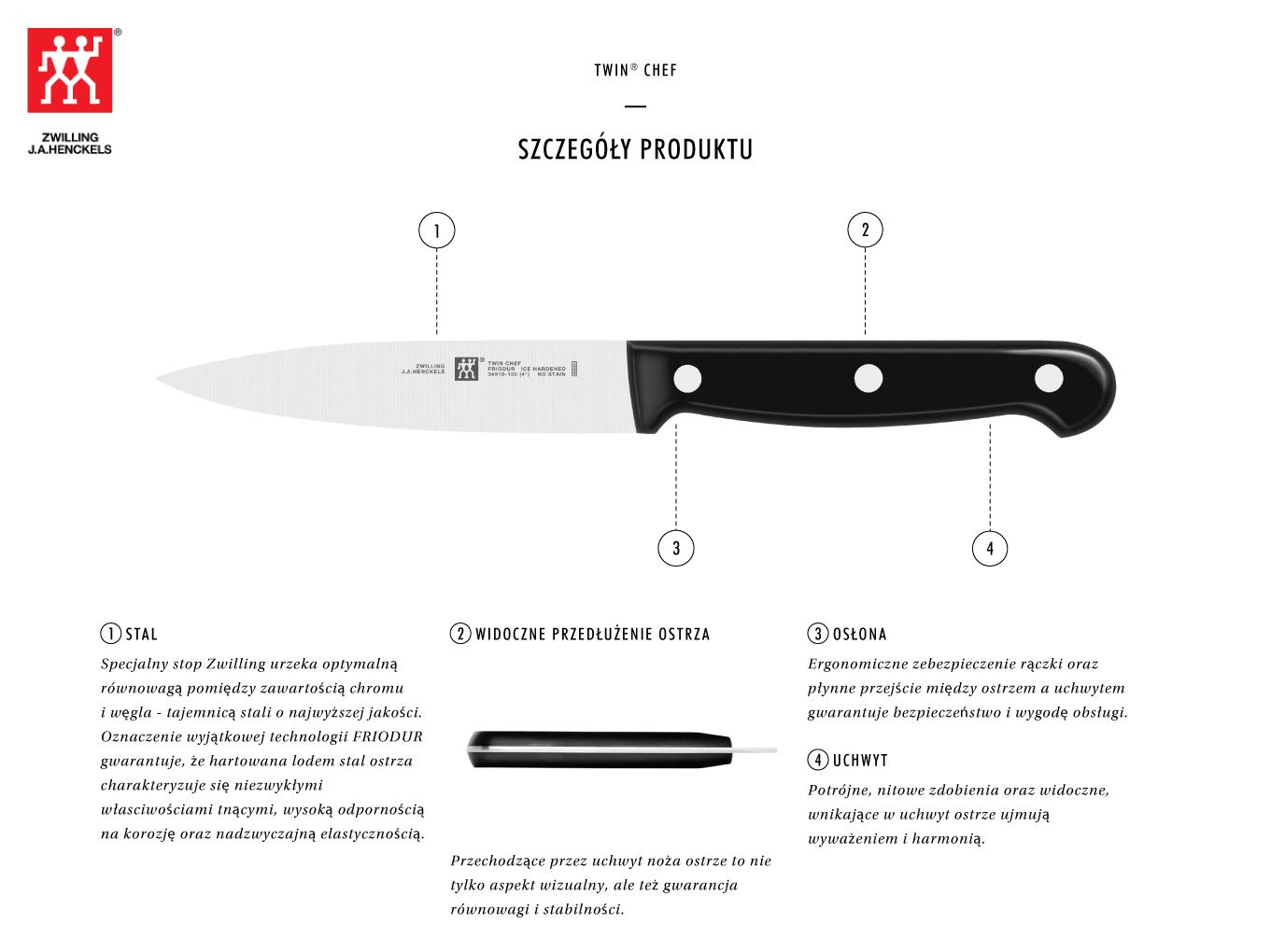 Dlaczego warto kupić nóż do warzyw i owoców Twin® Chef?