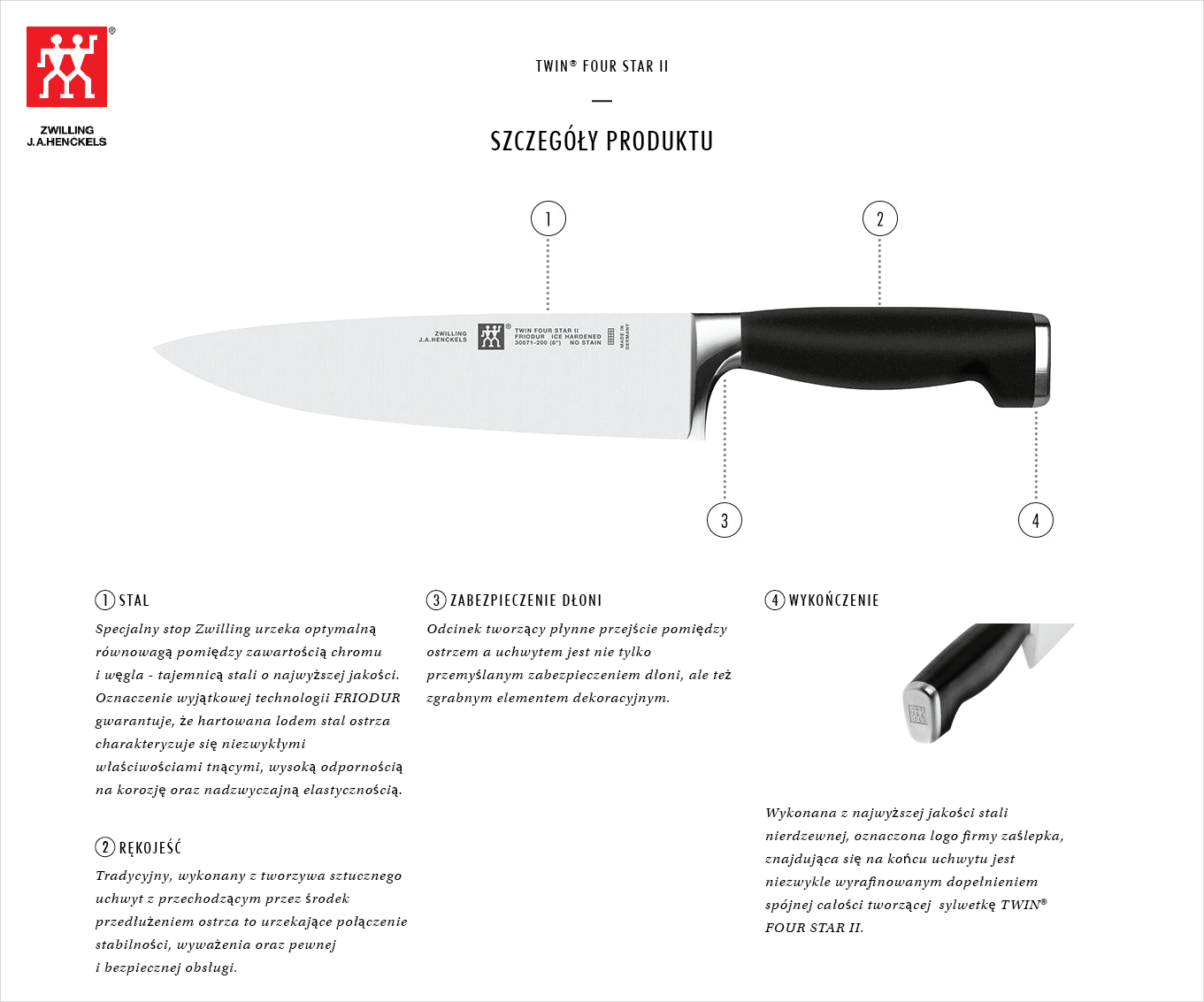 Dlaczego warto kupić zestaw 2 noży Twin® Four Star II?