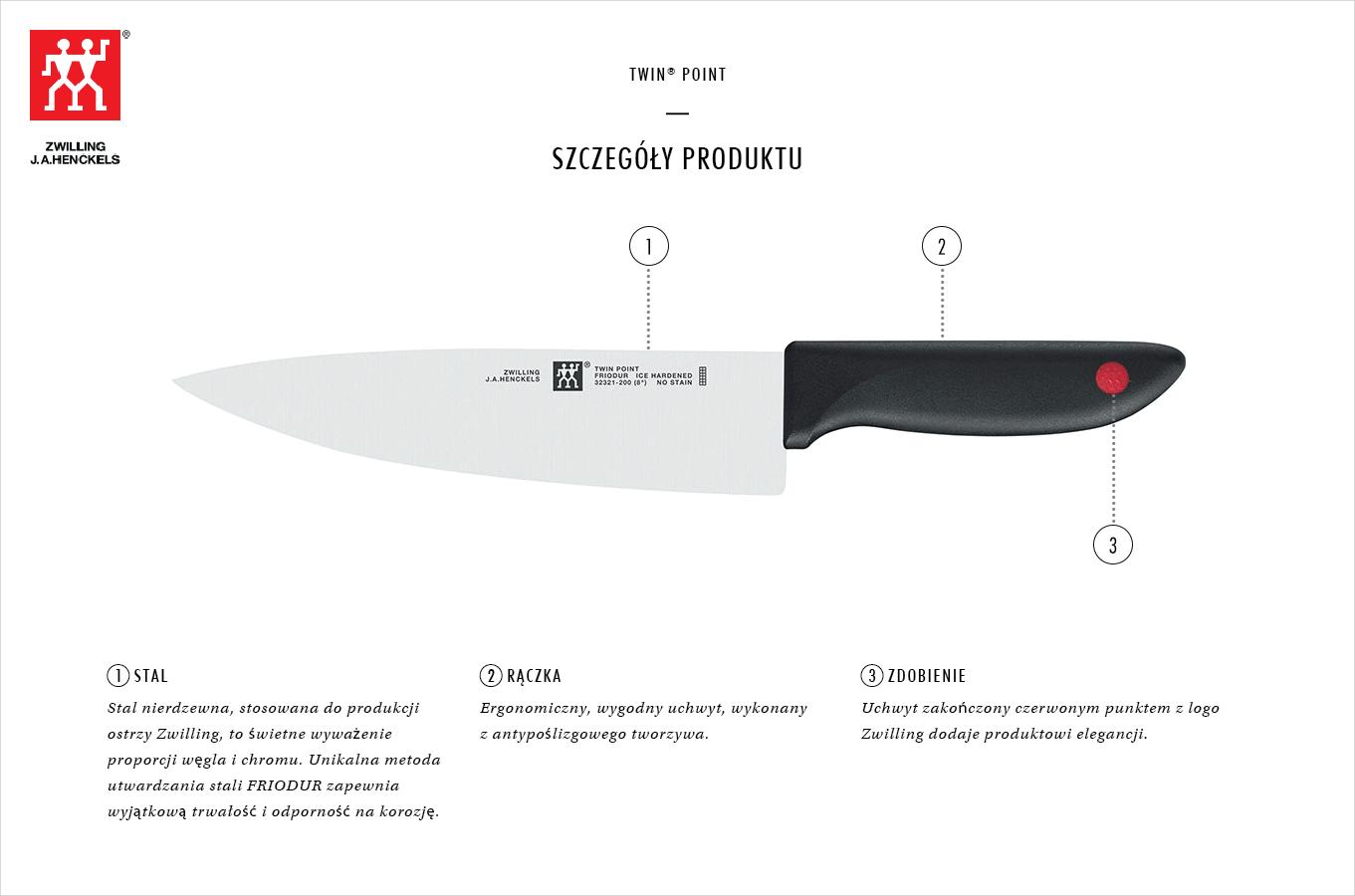 Dlaczego warto kupić zestaw 2 noży Zwilling Twin® Point?