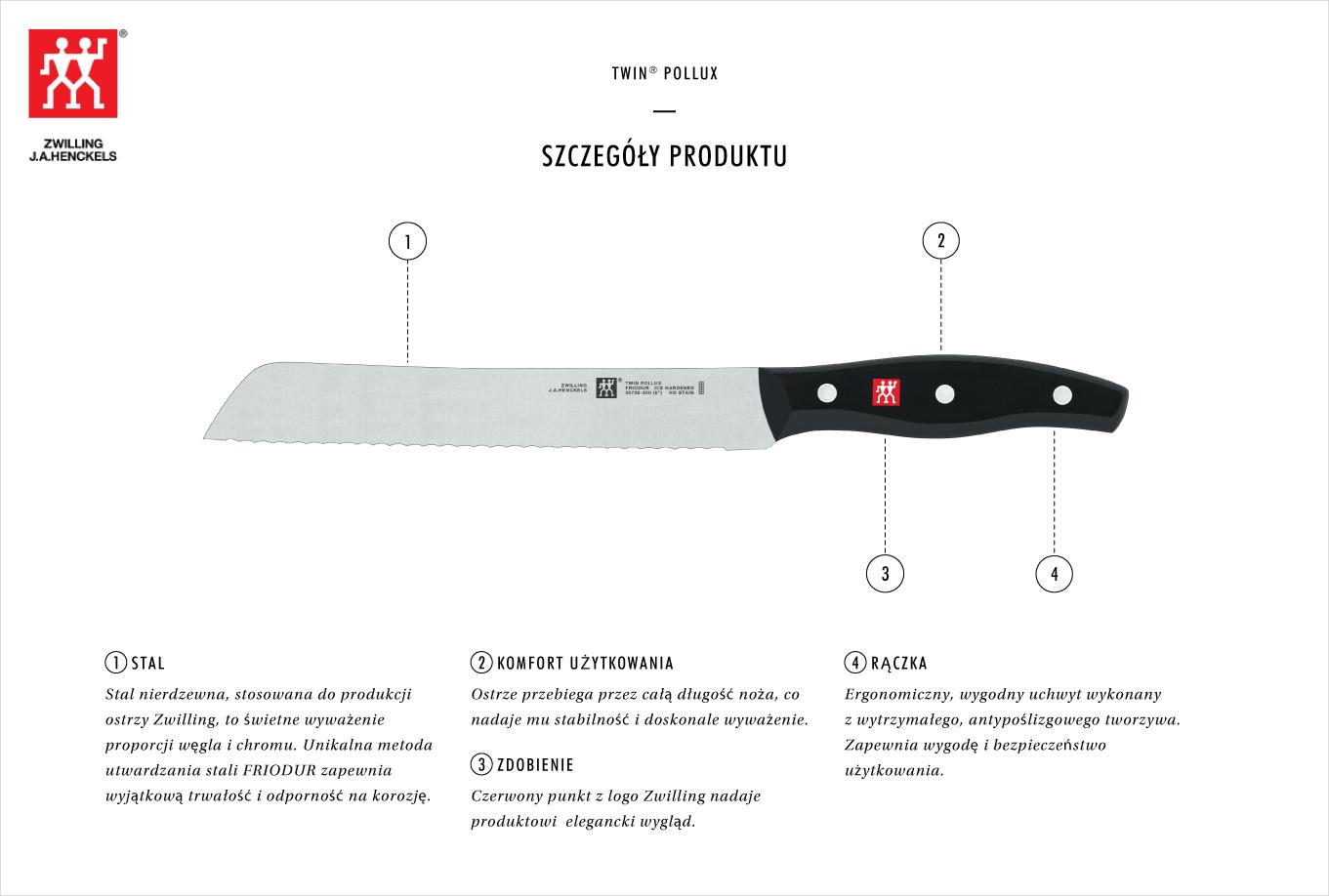 Dlaczego warto kupić nóż do pieczywa Zwilling Twin® Pollux?