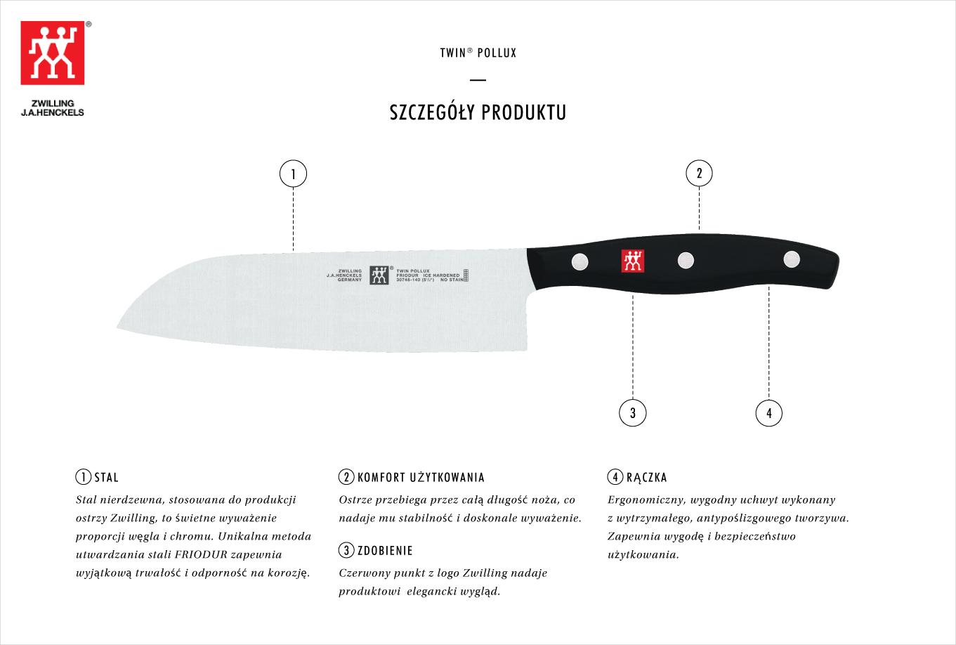 Dlaczego warto kupić nóż Santoku Zwilling Twin® Pollux?