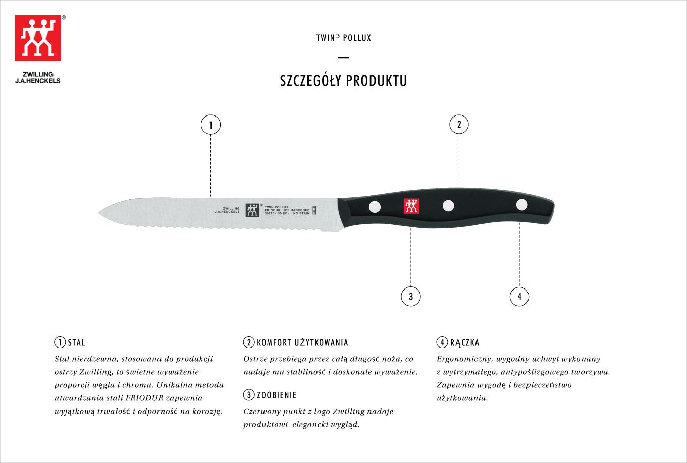 Dlaczego warto kupić nóż uniwersalny z ząbkami Zwilling Twin® Pollux?