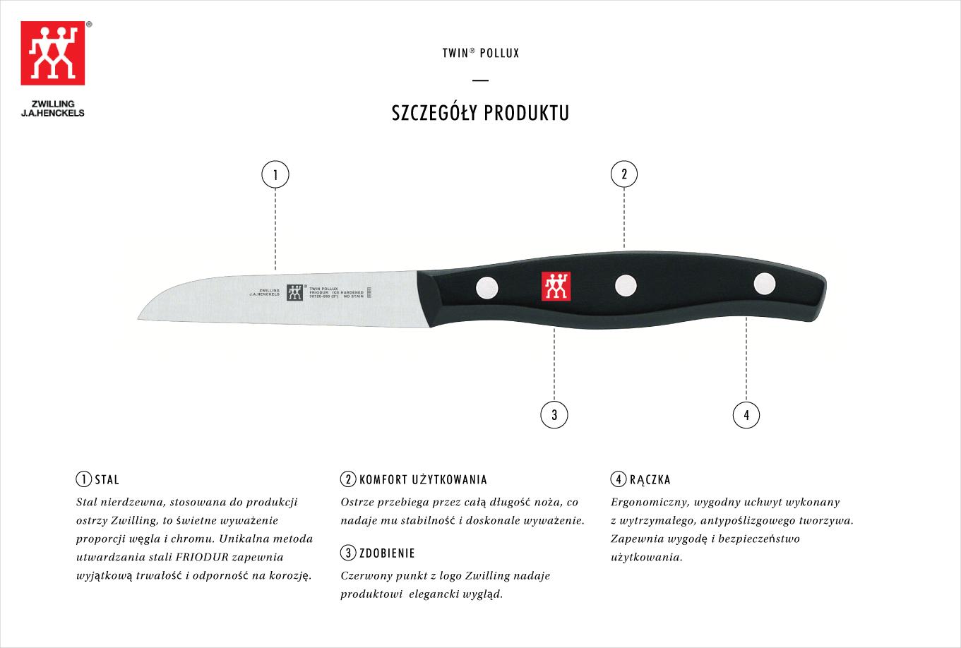 Dlaczego warto kupić nóż do warzyw i owoców Zwilling Twin® Pollux?