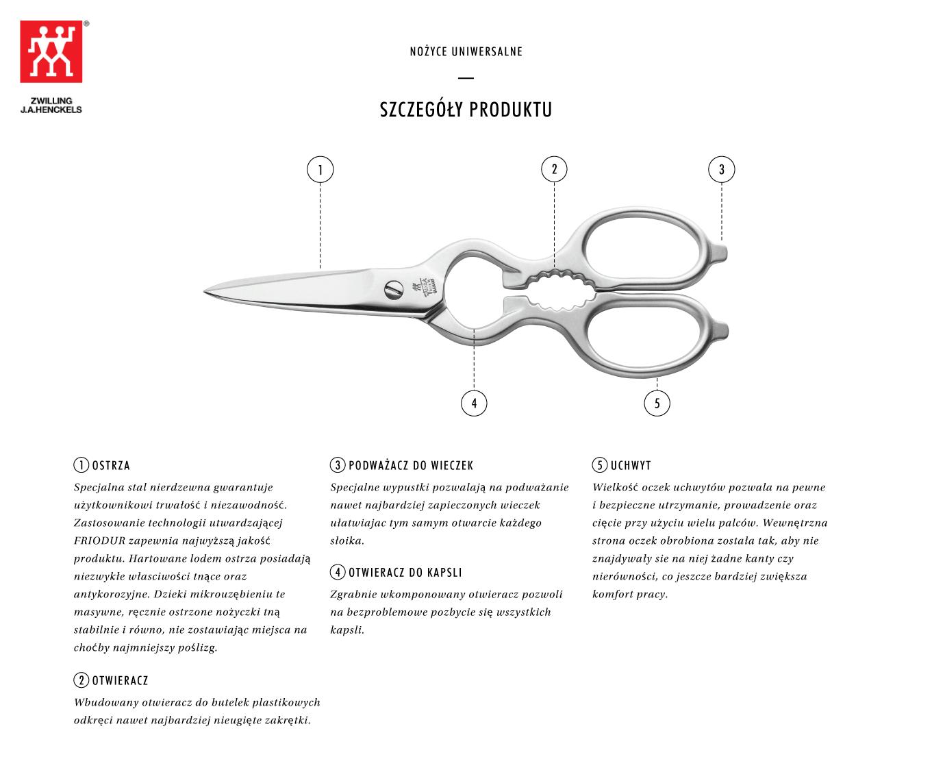 Dlaczego warto kupić satynowe nożyce uniwersalne Zwilling®?