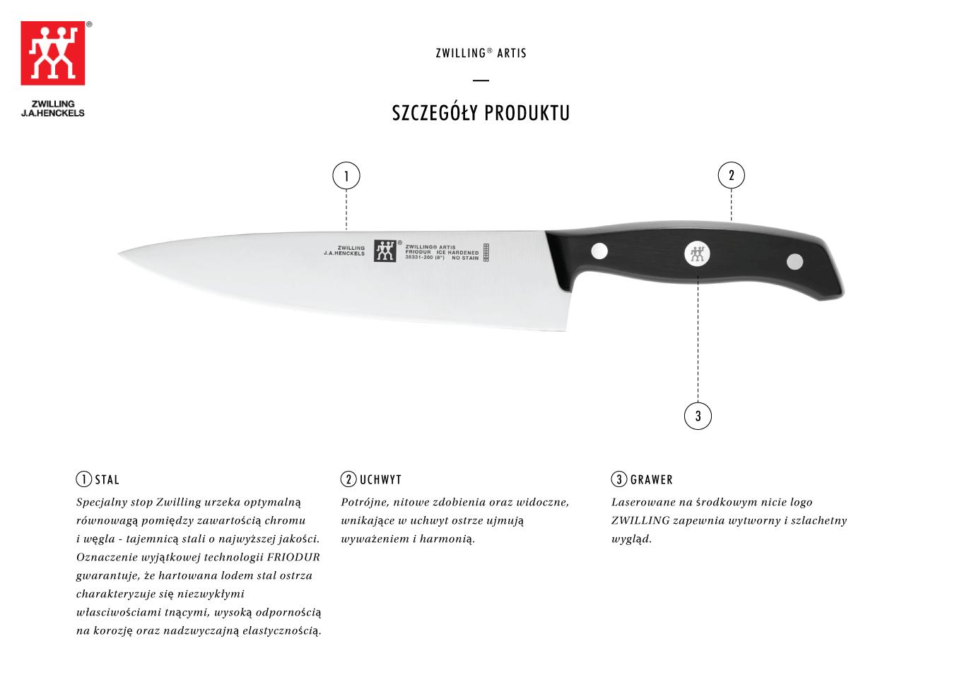 Dlaczego warto kupić nóż szefa kuchni Zwilling® Artis?