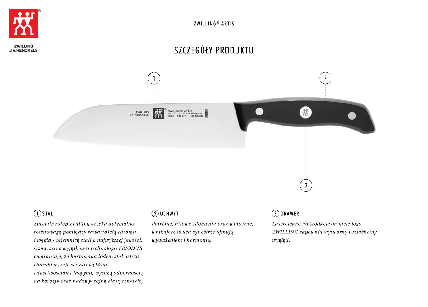Dlaczego warto kupić nóż Santoku Zwilling® Artis?