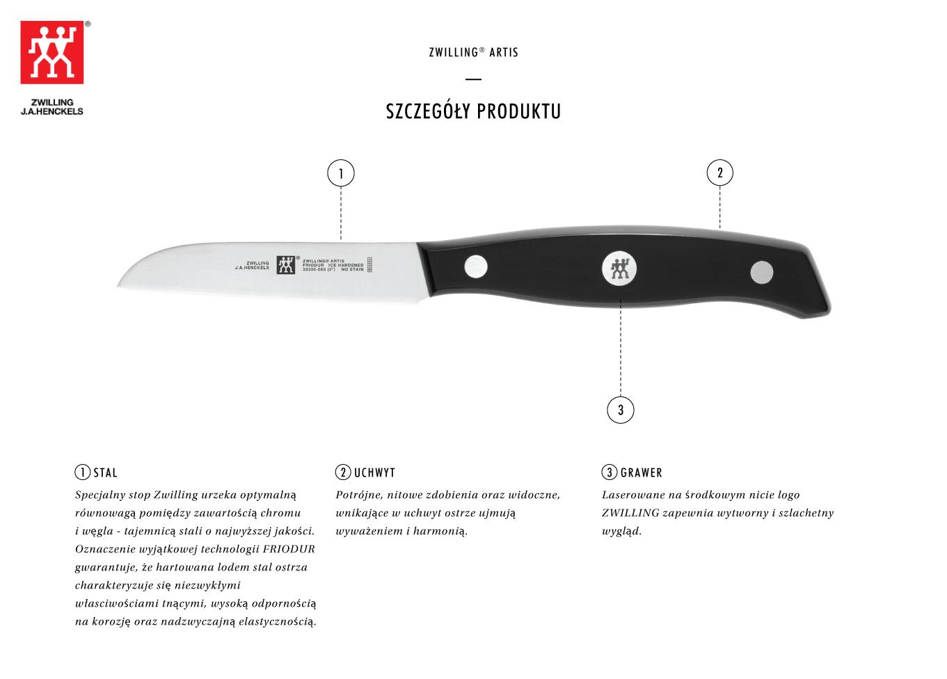 Dlaczego warto kupić nóż do warzyw i owoców Zwilling® Artis?