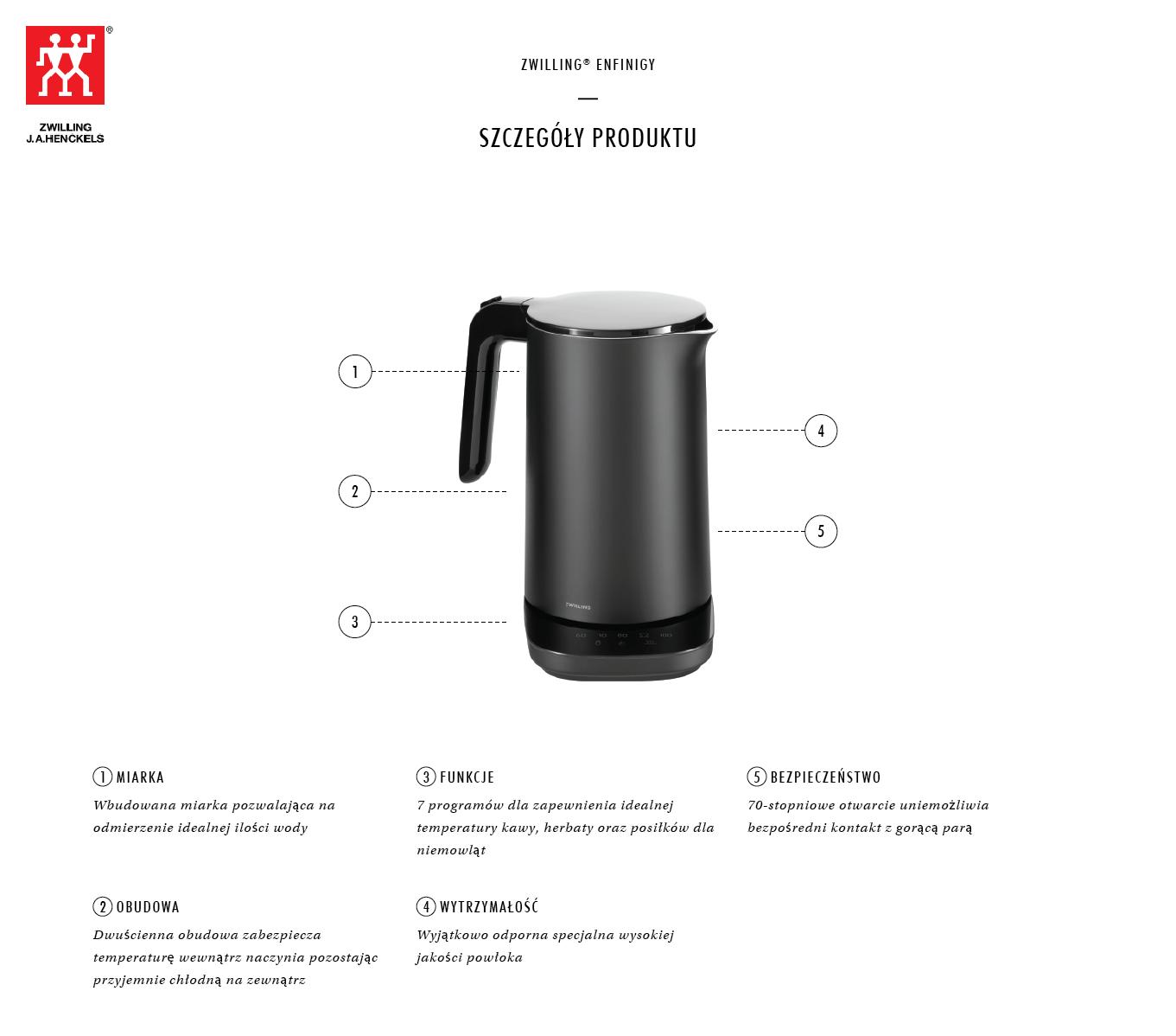 Dlaczego warto kupić czajnik elektryczny Pro Zwilling Enfinigy?