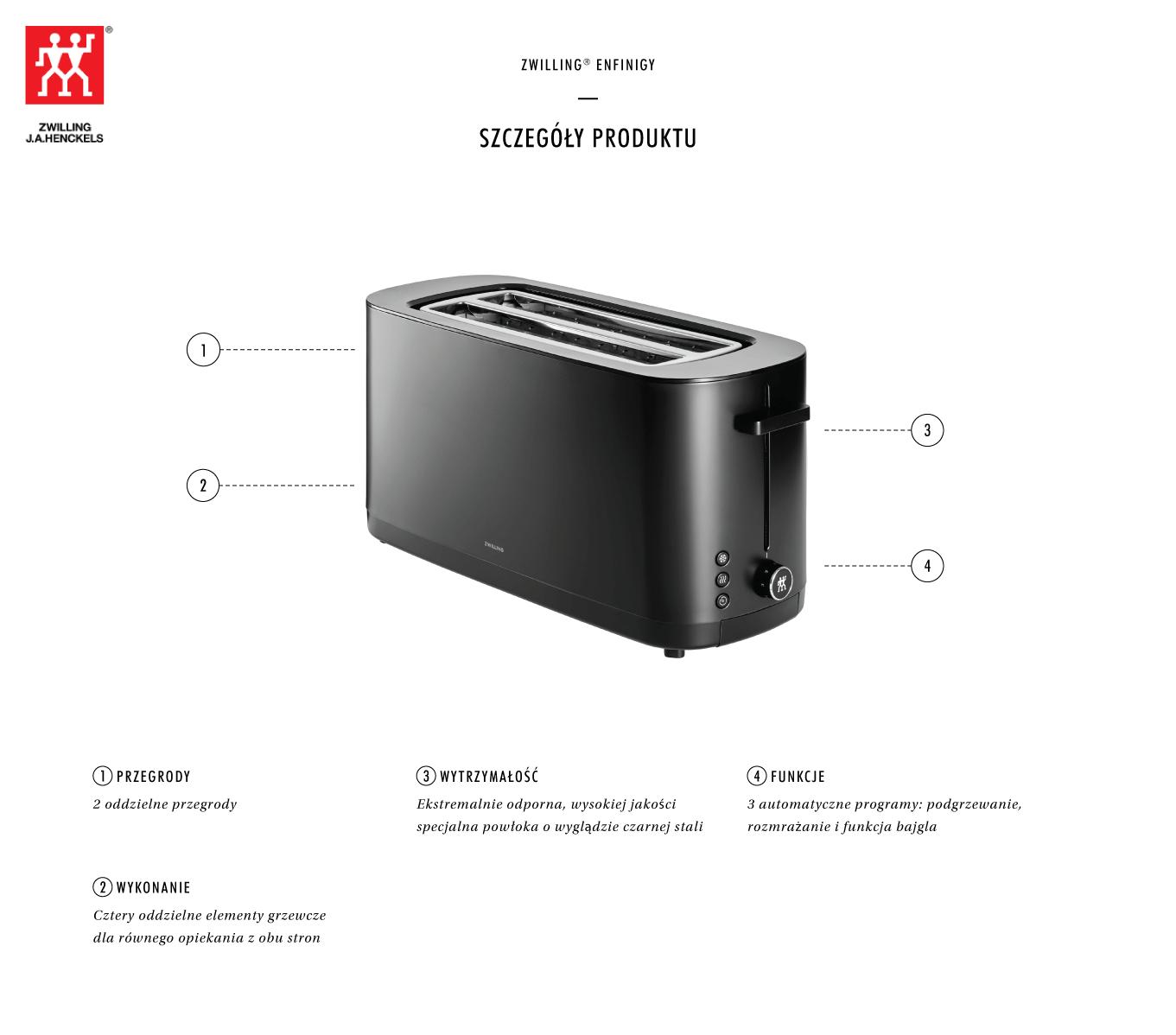 Dlaczego warto kupić duży toster Zwilling Enfinigy?