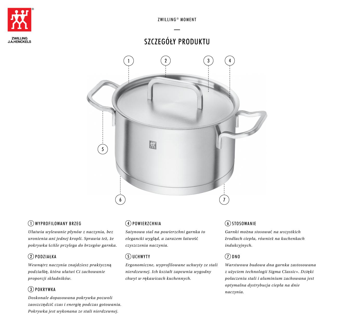 Dlaczego warto kupić wysoki garnek do zupy z pokrywką Zwilling® Moment?