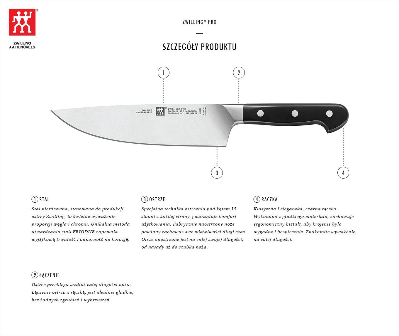 Dlaczego warto kupić zestaw 4 noży w bloku Zwilling® Pro?