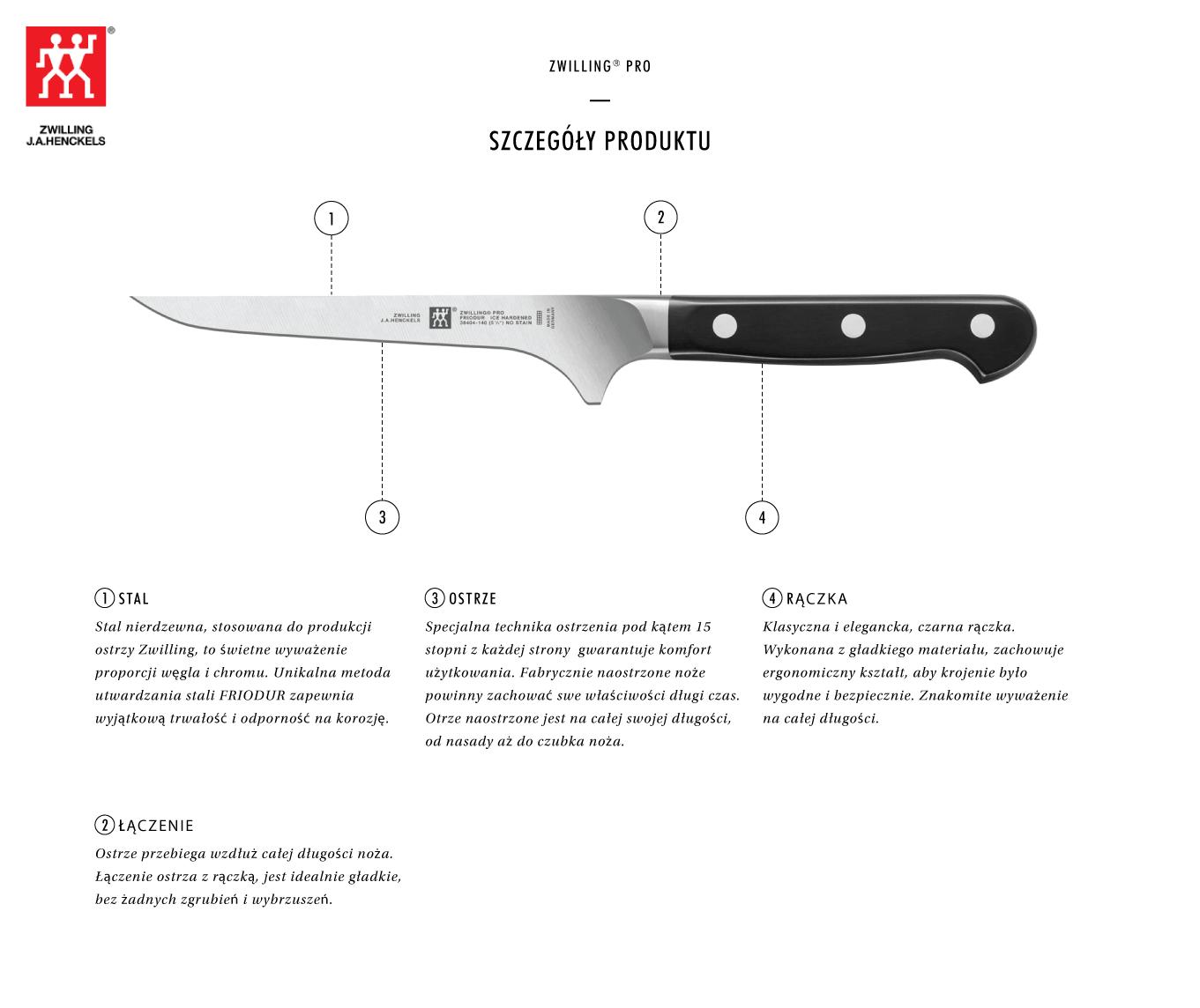 Dlaczego warto kupić nóż do trybowania Zwilling® Pro?