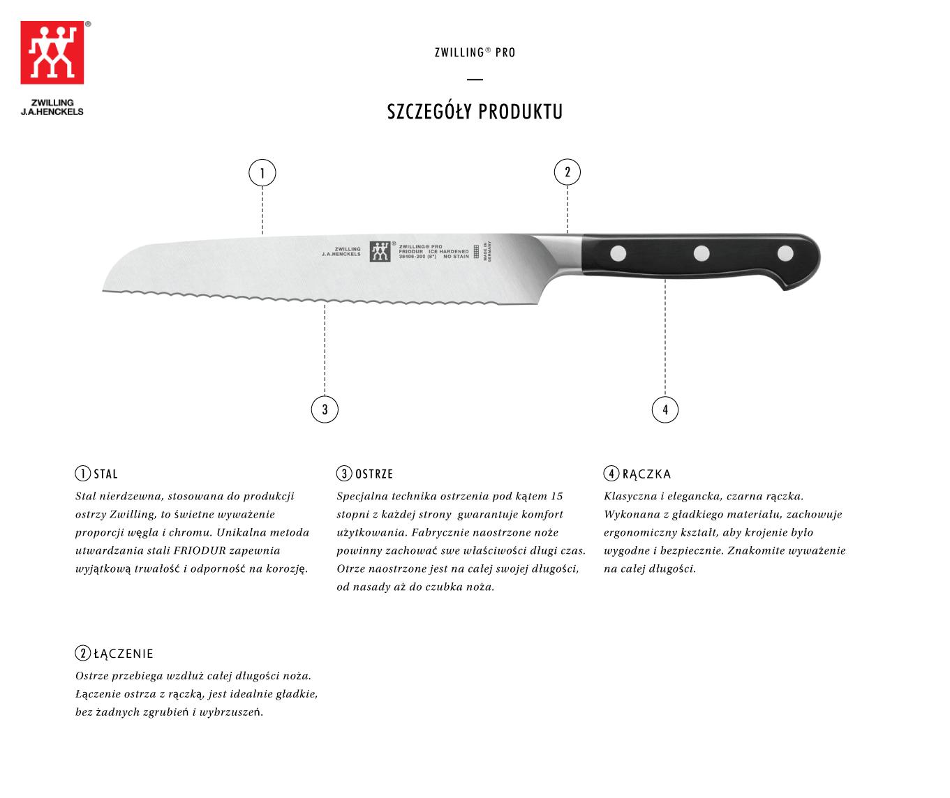 Dlaczego warto kupić nóż do pieczywa Zwilling® Pro?