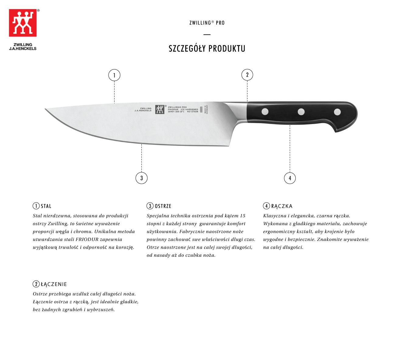 Dlaczego warto kupić nóż szefa kuchni Zwilling® Pro?