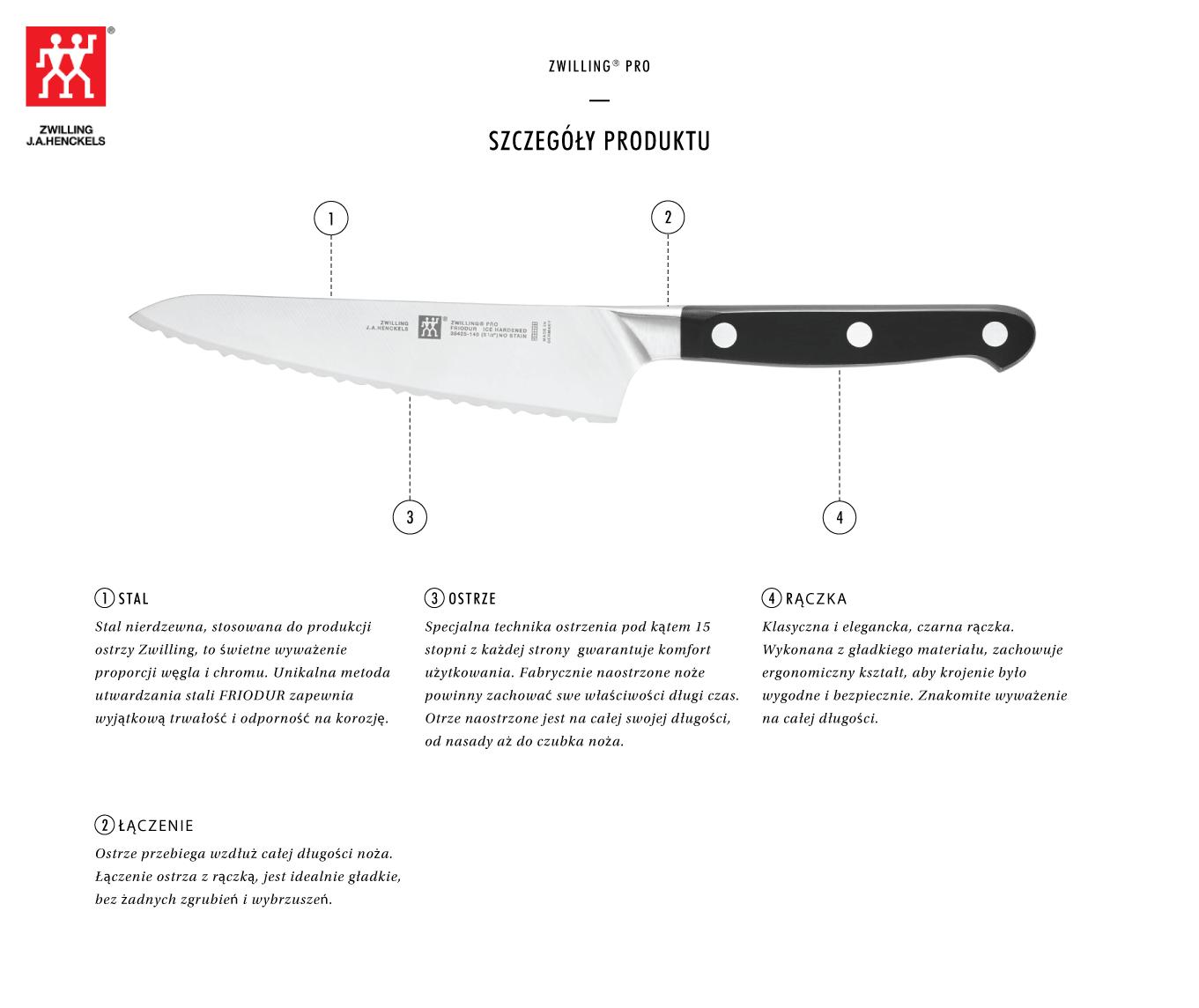Dlaczego warto kupić kompaktowy nóż szefa kuchni Zwilling® Pro?