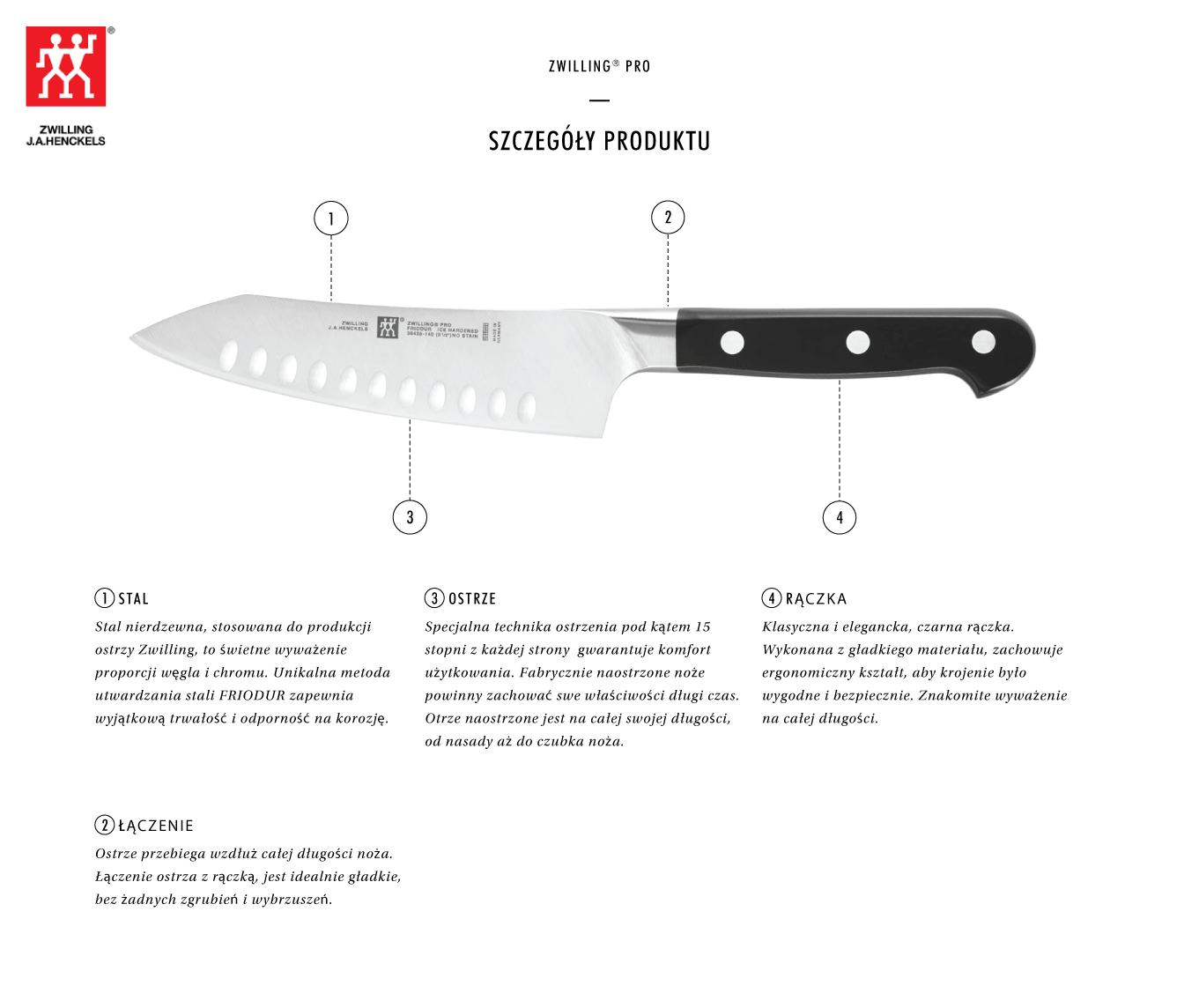 Dlaczego warto kupić kompaktowy nóż Santoku z rowkami Zwilling® Pro?