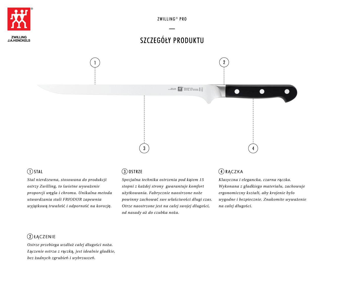Dlaczego warto kupić nóż do wędlin Zwilling® Pro?