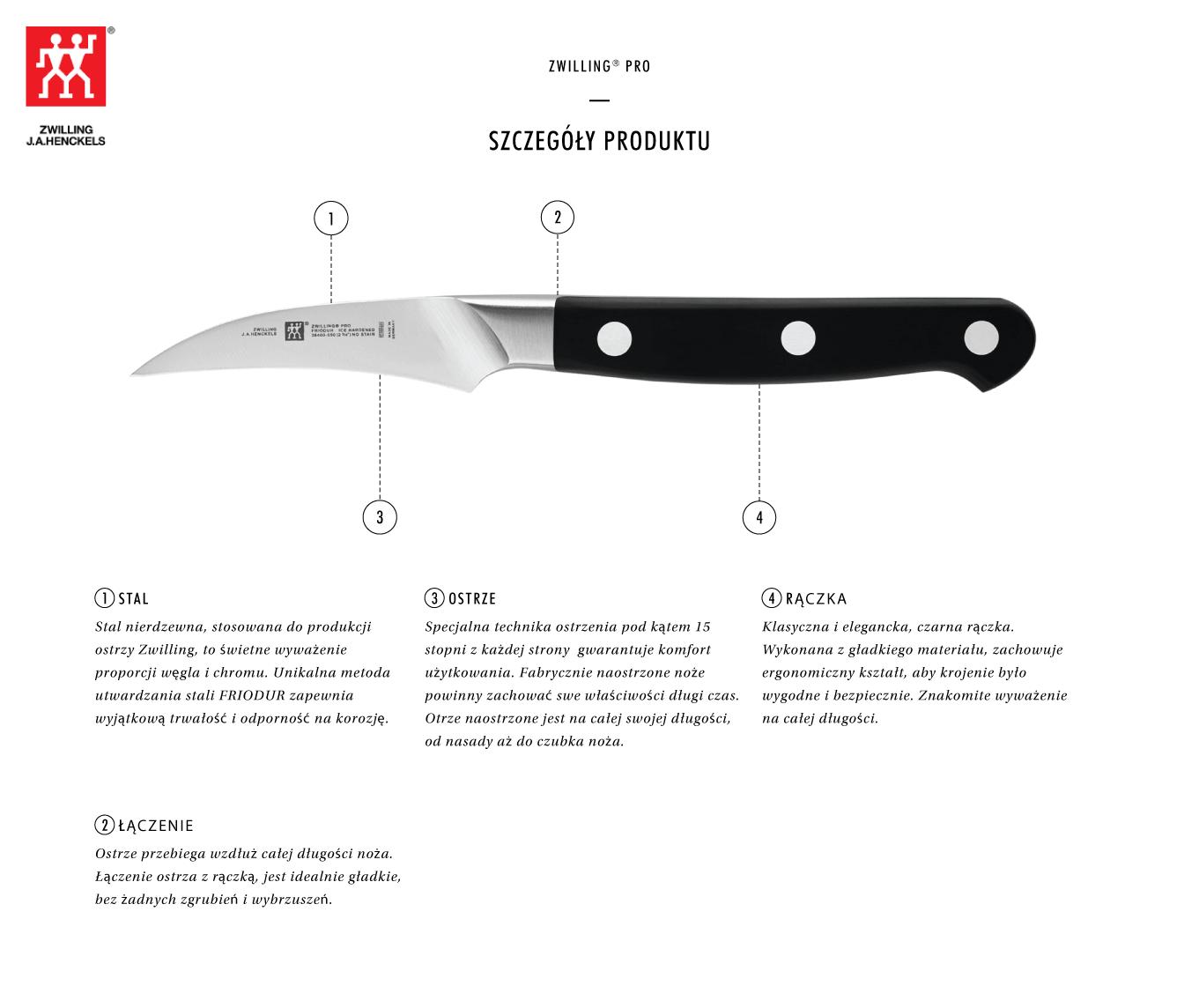 Dlaczego warto kupić nóż do obierania warzyw Zwilling® Pro?
