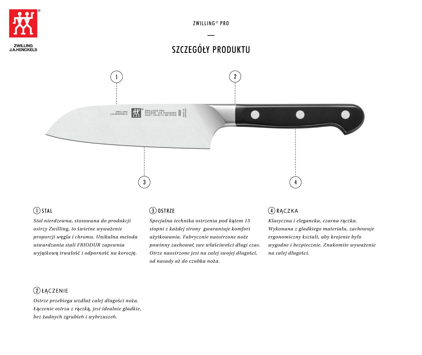 Dlaczego warto kupić nóż Santoku Zwilling® Pro?