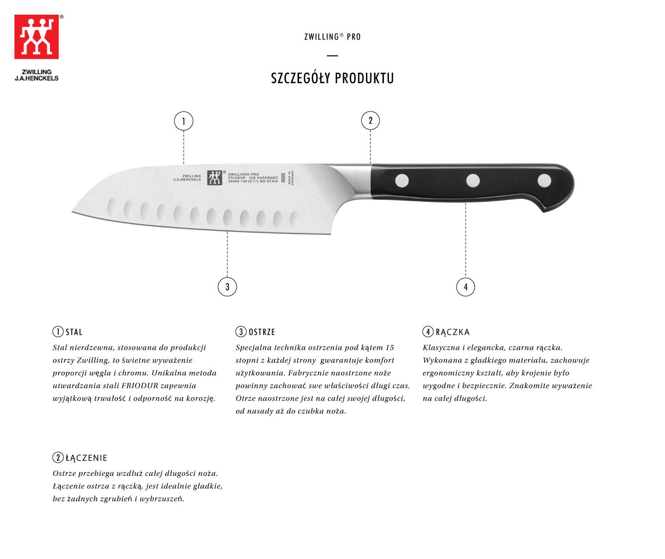 Dlaczego warto kupić nóż Santoku z rowkami Zwilling® Pro?