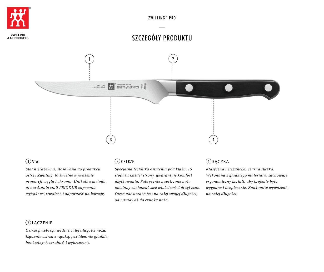 Dlaczego warto kupić nóż do steków Zwilling® Pro?