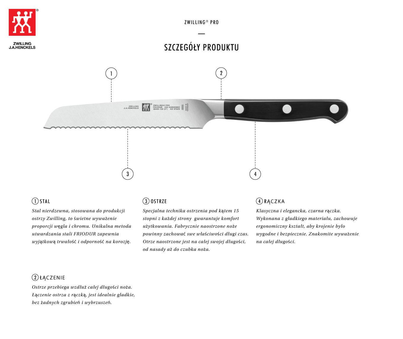 Dlaczego warto kupić nóż uniwersalny z ząbkami Zwilling® Pro?