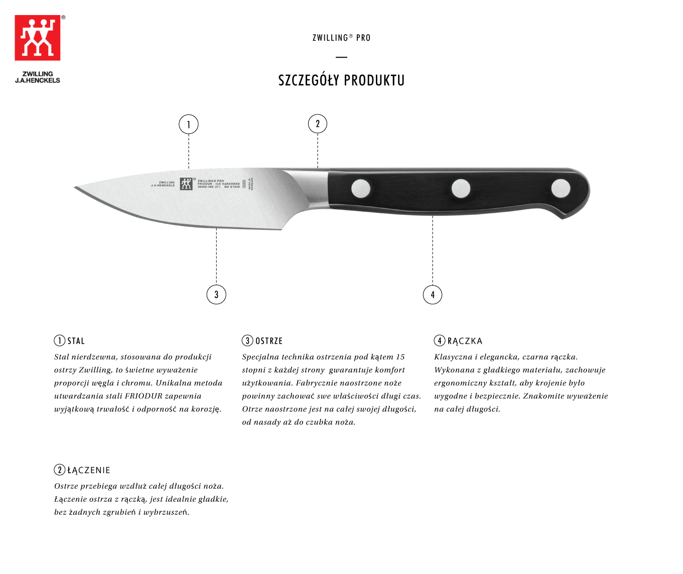 Dlaczego warto kupić nóż do warzyw i owoców Zwilling® Pro?