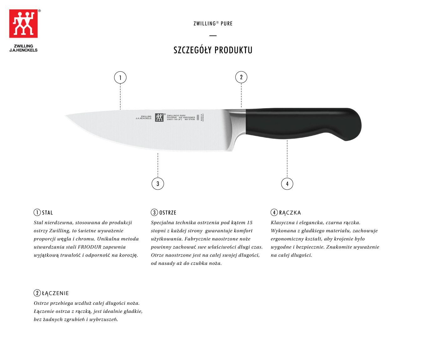Dlaczego warto kupić nóż kucharza Zwilling® Pure?