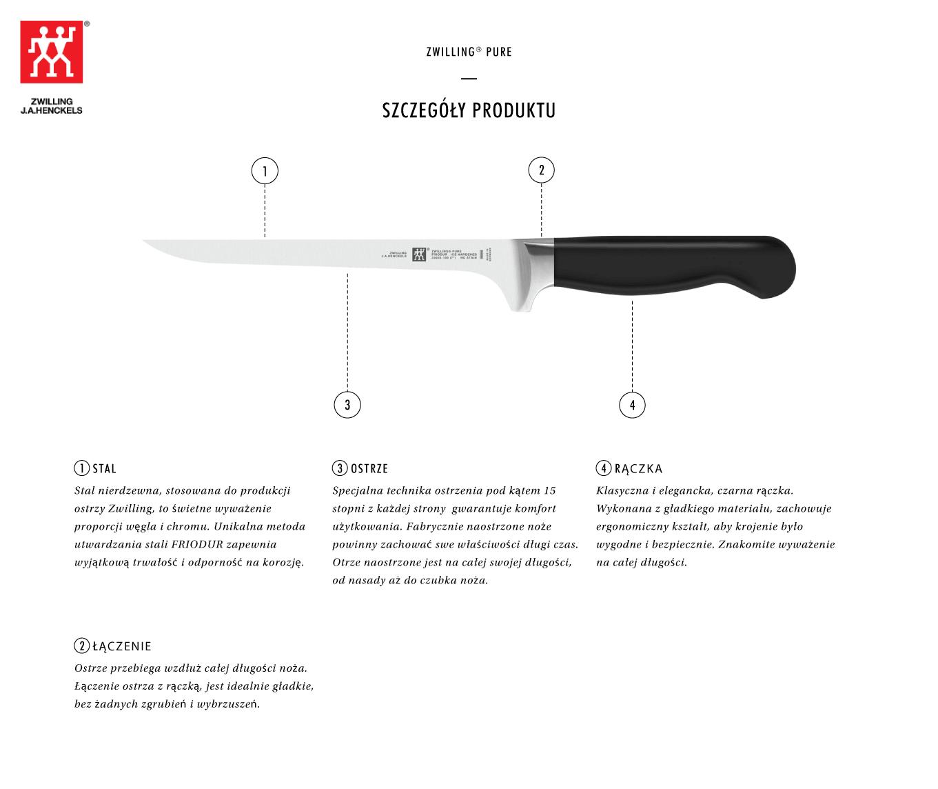Dlaczego warto kupić nóż do filetowania Zwilling® Pure?