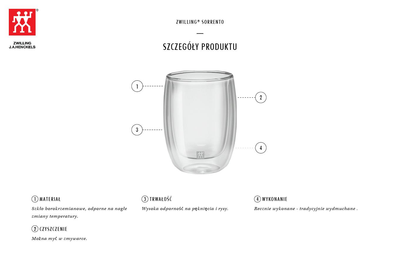 Dlaczego warto zestaw dwóch szklanek do espresso z uchwytem Zwilling Sorrento?