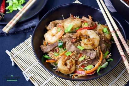 Surf and turf stir fry
